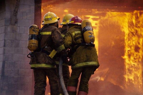 Firemen on the Scene