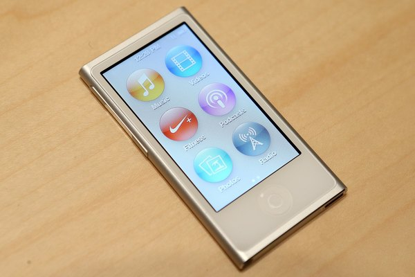 The iPod Nano has volume controls on the side.