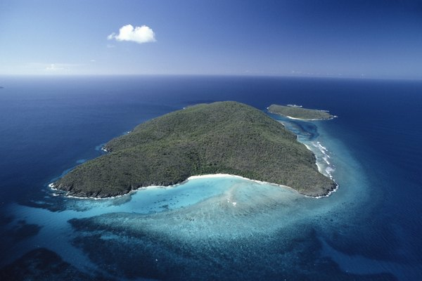 Island, St. Thomas, US Virgin Islands, aerial view