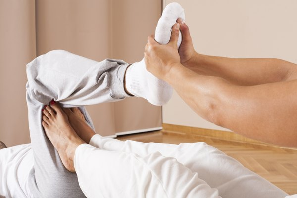 Thai massage of inner thigh