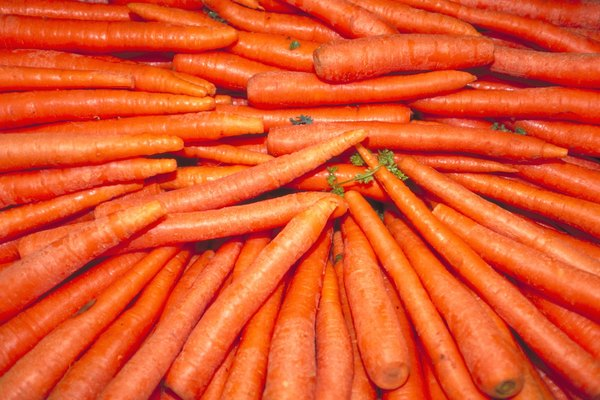 Close-up of a pile of fresh carrots