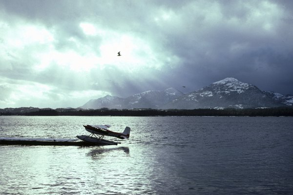 Floating aircraft in alaska
