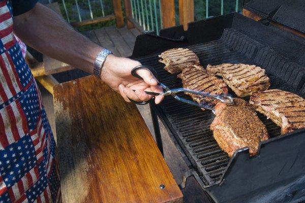 Man grilling food