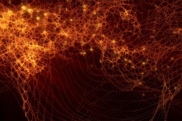 Las partículas suspendidas se mueven en muchas direcciones antes de asentarse.