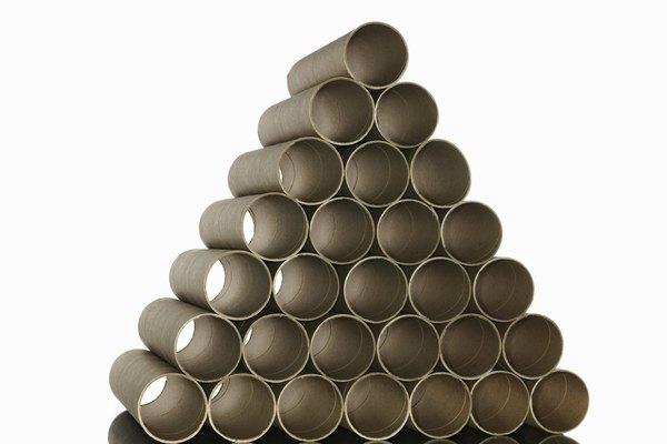 Los tubos de cartón son potenciales trombones.