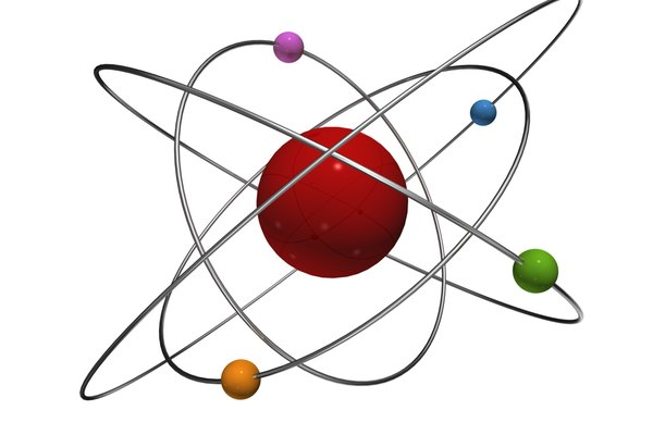 Modelo 3D de un átomo.