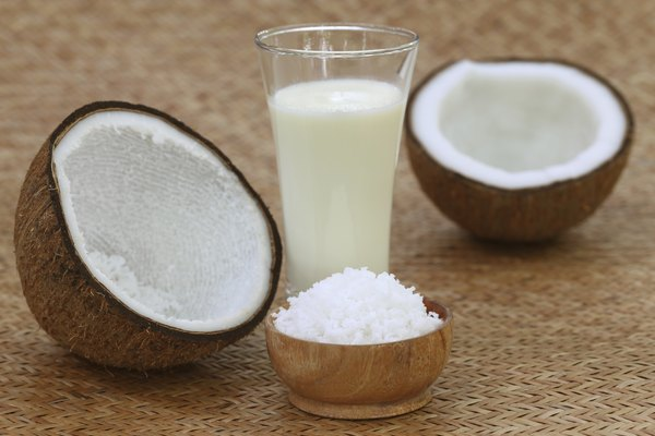 Coconut with milk and grated form