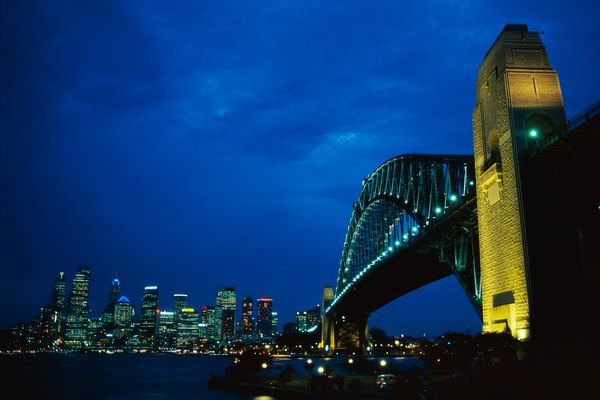 Circular Quay and Sydney Harbour Bridge, Sydney, New South Wales, Australia