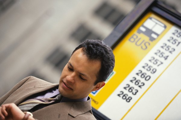 Businessman Waiting for the Bus