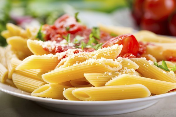 plate of penne pasta
