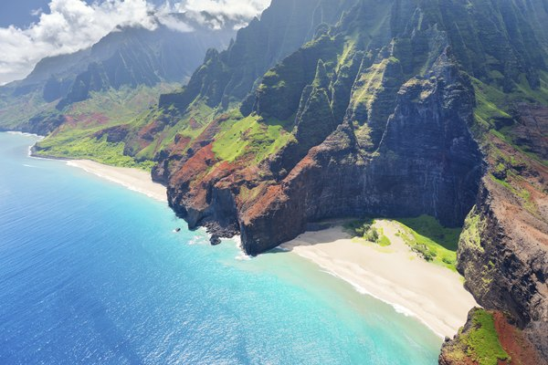 Na Pali Coast on Kauai island