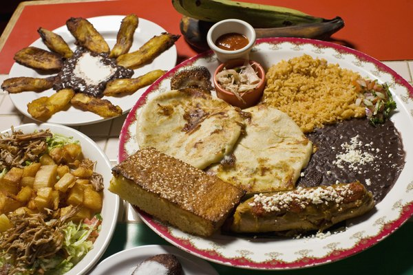 variety of mexican foods