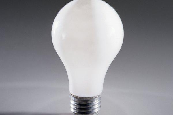 Las bombillas están llenas de gas.