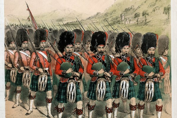 Las faldas escocesas o kilt son utilizadas por los hombres