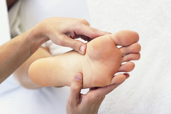 Woman's foot and hands