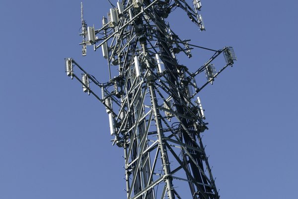 Cell phone towers provide signals for cell phone users.