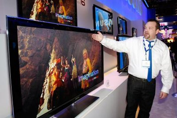 Samsung's 58-inch plasma TV on display at an electronics show.