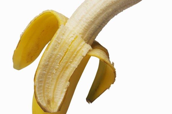 Close-up of an open banana