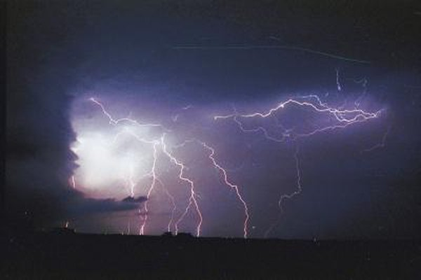 Lightning will travel through any conductive material.