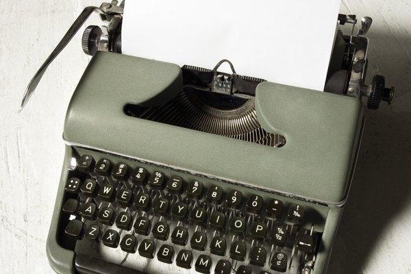 Maquina de escribir clásica.