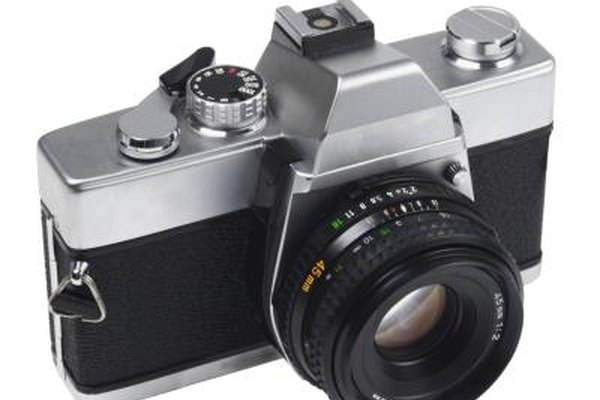 Film cameras use light and chemistry to record an image.