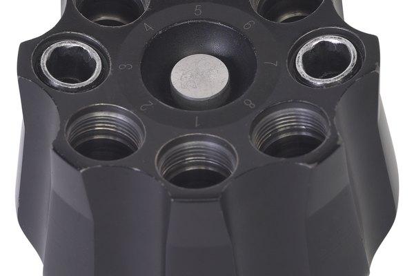 Rotor de centrífuga con ocho cavidades.