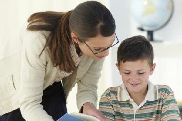 Los auxiliares educativos trabajan cara a cara con los estudiantes.