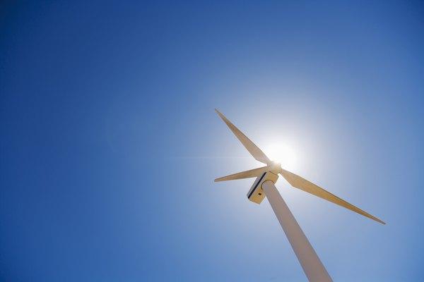Turbina de viento.