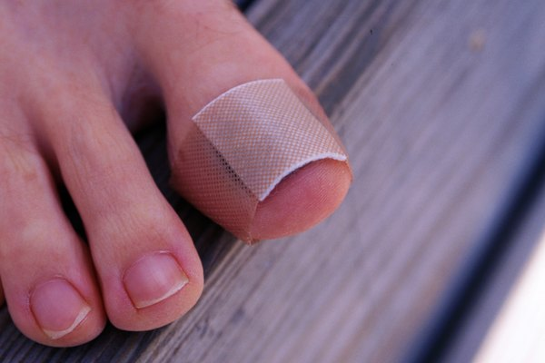 Close-up of toe with bandage