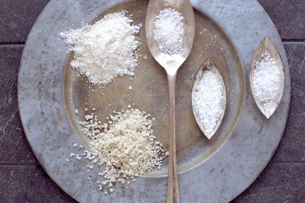 Sea salt on tray