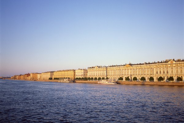 Winter Palace by Neva River in Saint Petersburg, Russia