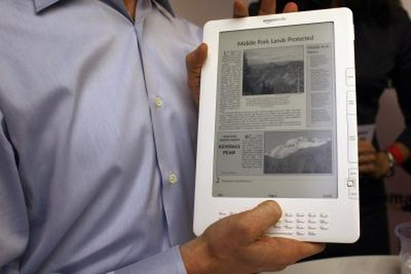 The Kindle lets you view a variety of electronic documents including newspapers and books.