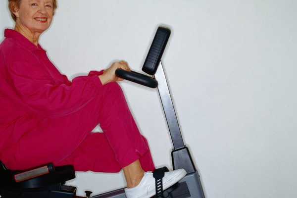 Senior Woman on Exercise Bike