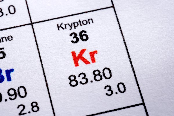 El kriptón es un elemento en el grupo de los gases nobles con un número atómico de 36 y un peso atómico de 84