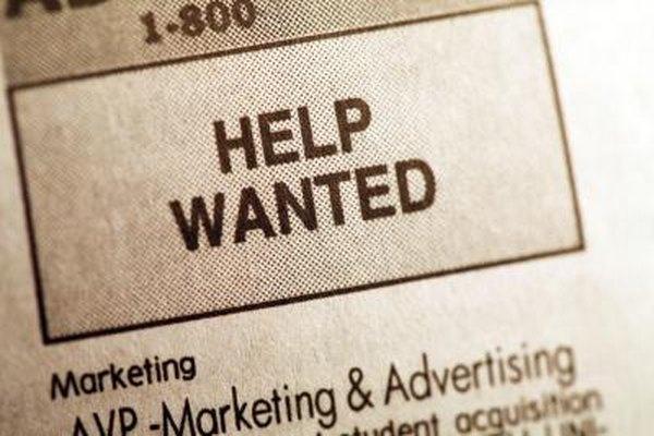 Los anuncios de empleos impresos pueden no incluir el nombre del contratante.