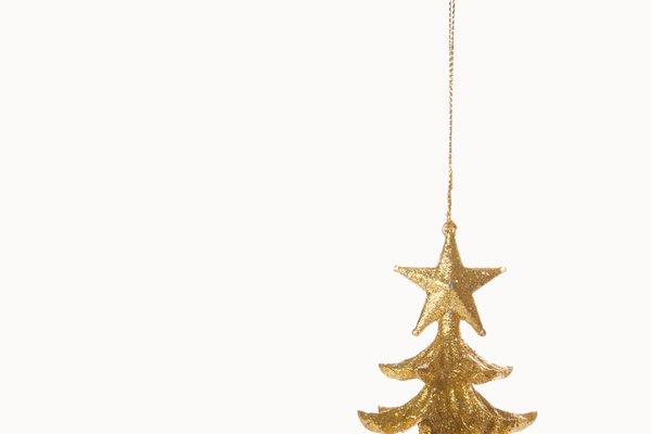 La decoración para Navidad.