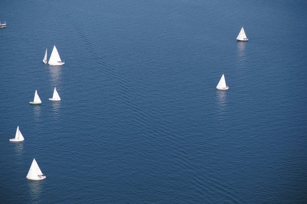 Sailboats on Lake Ontario, Canada
