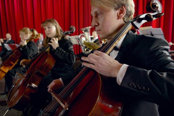 Violonchelos en una Orquesta