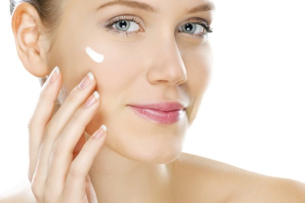 Women skin care, studio shot