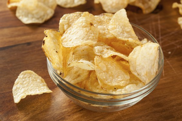 Unhealthy Crispy Potato Chips