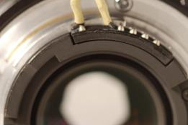 Nikon CPU lenses have four or more spring-loaded terminals.