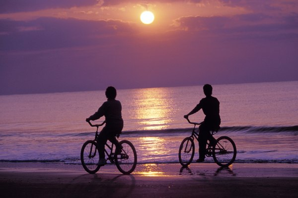 Riding Bikes on the Beach