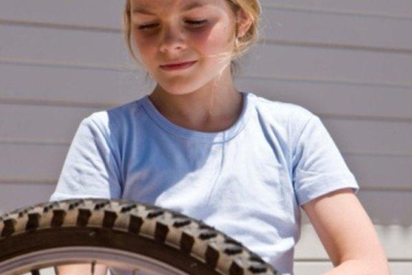 La presión de un neumático de bicicleta  puede medirse en libras por pulgada cuadrada o en megapascales.