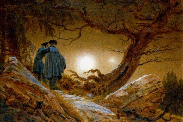 Esta es una pintura de estilo romántico hecha por Caspar David Friedrich.