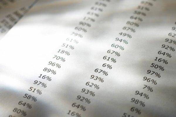 El rango de percentiles califica un resultado en comparación con un grupo de evaluaciones.