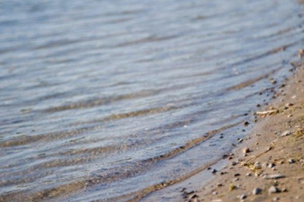 Los depósitos de arena en los ríos afectan la geografía de una llanura aluvial.