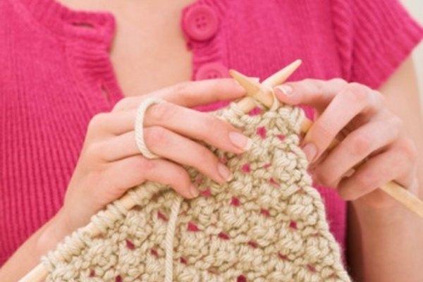 Puedes tratar el ovillo de lana o el producto terminado.