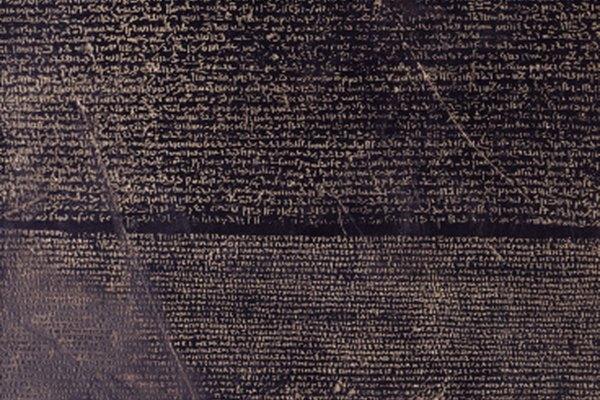 La famosa Piedra de Rosetta fue tallada en basalto.