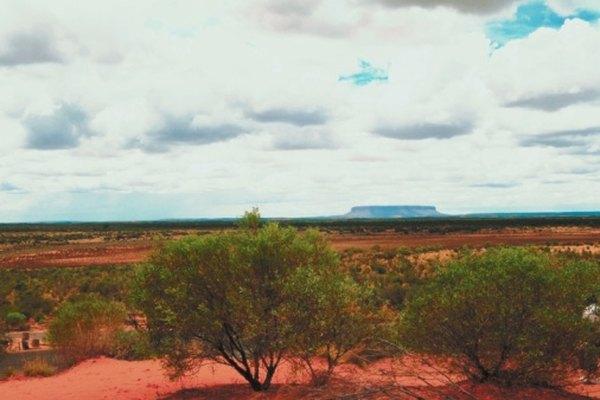 Una gran porción del interior de Australia es desierto llano, llamado