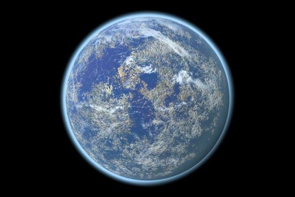 La gravedad, la fuerza centrifuga y el polvo cósmico condensado forman la tierra.